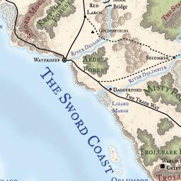 Faerun Map Loremaps